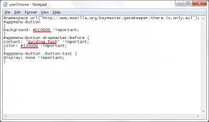 Firefox Chrome CSS Code