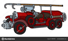 100 Fire Truck Drawing Hand Vintage Red Stock Vector 2v 196587200