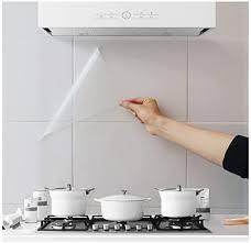 4 stück ölbeständige wandsticker tapete küche backsplash wandschutz transparent wasserdicht hitzebeständig selbstklebend aufkleber für küche esszimmer