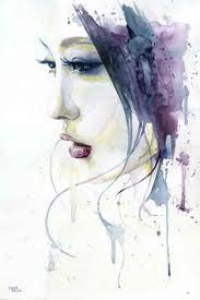 Cora Tiana Silent Artwork By 2014 Watercolor 30x46 Cm