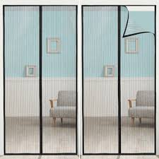Anpro Magnetic Screen Door with Heavy Duty Mesh Curtain Screen