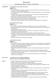Activities Manager Resume Samples | Velvet Jobs High School Resume 2019 Guide Examples Extra Curricular Acvities On Your Resume Mplate Job Inquiry Letter Template Fresh Hard Removal Best Section Beefopijburgnl Cover For Student 8 32 Cool Co In Sample All About Professional Ats Templates Experienced Hires And College For Application Of Samples Extrarricular New Professional Acvities Sazakmouldingsco Career Center Rochester Academy