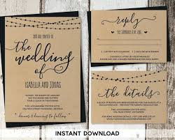 Beautiful Rustic Wedding Invitations Templates And Template