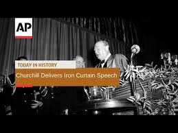 churchill s iron curtain speech 1946 today in history 5 mar