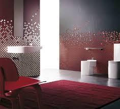 farbiges glasmosaik rot grau badezimmer fliesen fliesen
