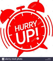 Hurry Up Alarm Clock Vector Illustration