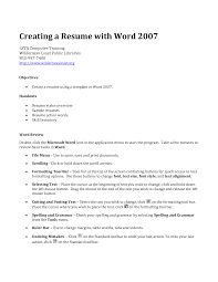 Using The Word I In A Resume by 100 Functional Resume Template For Word One Page Resume