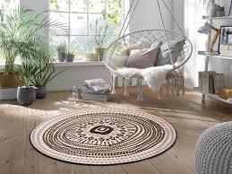 wash interior fußmatte boho style 115 cm rund