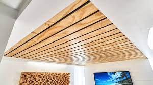 104 Wood Cielings How To Make A Slat Ceiling Youtube