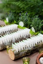 une bûche de bois mariage sélection de plans de table faits