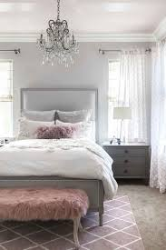 Stunning Gray White Pink Color Palette Bedroom DecorGray