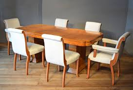 Art Deco Dining Table 6 Matching Chairs