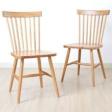 Country Dining Chairs Style Furniture Solid Wood Modern Minimalist White Oak