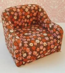 details zu bodo hennig sessel blümchen rosa braun wohnzimmer 80er jahre puppenstube