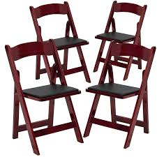 Amazon.com: 4 Pk. HERCULES Series Mahogany Wood Folding ... Wood Folding Chairs With Padded Seat White Wooden Are Very Comfortable And Premium 2 Thick Vinyl Chair By National Public Seating 3200 Series Padded Folding Chairs Vintage Timber Trestle Tables Natural With Ivory Resin Shaker Ladder Back Hardwood Chair Fruitwood Contoured Hercules Wedding Ceremony Buy Seatused Chairsseat Cushions Cosco 4pack Black Walmartcom