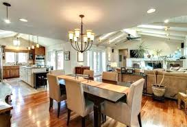 Combined Living Room Dining Kitchen Combo Captivating