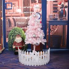 White Christmas Tree Decoration Package 150cm Pink Decorations Hotel