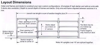 Layout Dimensions For Warehouse Bulk Storage Racks