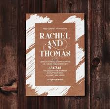 Rustic Brush Stroke Wedding Invitation Card FWI116129 TR