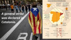 a general strike was declared in catalonia youtube