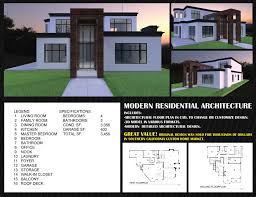 100 Modern Residential Architecture Floor Plans Residential Architecture Contemporary House Design 3D Model