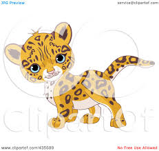 Royalty Free RF Baby Leopard Clipart Illustrations Vector