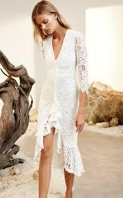 nadege white ruffled lace dress by alexis m u0027o resort report