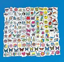 150 Piece Lot Of Assorted Kids Temporary Tattoos Z1034