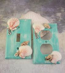 Switchplate Covers Sea Shell Mermaid Light Switch Plate Home Beach Decor Bathroom Kitchen Girls Bedroom Nature Decorative Lighting