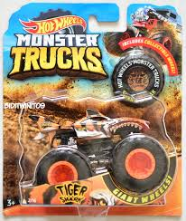 HOT WHEELS 2018 MONSTER TRUCKS GIANT WHEELS TIGER SHARK #2/16 ...