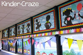 I Knew This Is Where Our WOW Factor Needed To Be These Adorable Silhouettes Sets The Tone AND Theme For Classroom Design