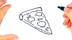 How to draw a Pizza for Kids