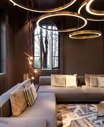 wohnzimmer gestalten wohnzimmerbeleuchtung ideen runde led