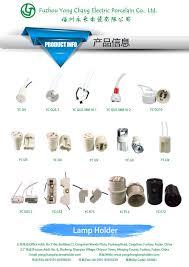 led bulb parts gu5 3 porcelain halogen l holder mr16 light
