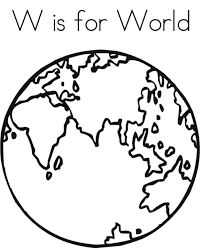 World Free Alphabet Coloring Pages