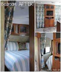 Travel Trailer Makeover New Master Bedroom And Side Privacy Curtains Tutorial