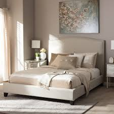 baxton studio aisling light beige modern platform bed free