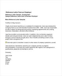 7 Job Reference Letter Templates Free Sample Example Format in
