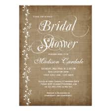Vintage Vines Rustic Bridal Shower Invitations Personalized Announcement