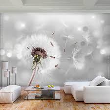 vlies fototapete blumen pusteblume grau tapete wandbilder xl wohnzimmer abstrakt