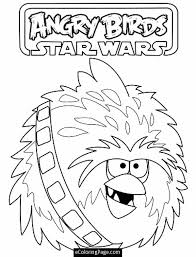 Angry Birds Star Wars Chewbacca Coloring Pages