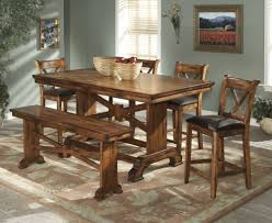 Solid Wood Round Dining Table And Chairs Small Kitchen Traditional Within Various Room Benches