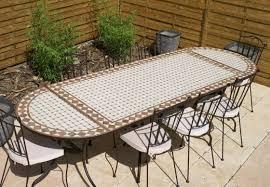 table ronde mosaique fer forge table jardin mosaique ovale 300cm table rectangle plus consoles