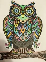 My Coloful Owl From The Colorama Coloring Book