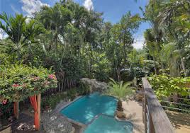 Backyard Design: Kumquat Avenue Tropical Backyard.   Carolbaldwin Patio Ideas Small Tropical Container Garden Style Pool House Southern Living Backyard Design 1000 About Create A Oasis In Your With Outdoor Plants 1173 Best Etc Images On Pinterest Warm Landscaping 16 Backyard Designs The Cool Amenity For Tropicalbackyard Interior Vacation Landscapes Diy