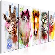 tiere leinwand deko bild wand bilder aquarell kunstdruck