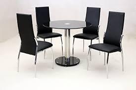 hgg schwarz glas esstisch und stühle runder esstisch