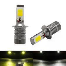 100 Chips For Diesel Trucks H3 Led Fog Light Yellow Amber 3000K White 6000K Dual Color