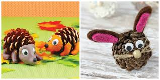 Animal Pine Cone Crafts For Kids