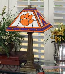 Tiffany Style Lamp Shades by Clemson Tigers Stained Glass Mission Style Table Lamp Sports